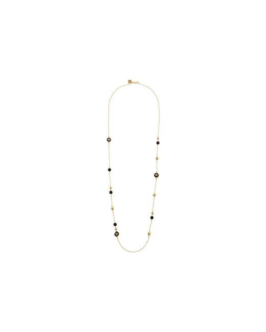 Tory Burch - Multicolor Raised Logo Rosary Necklace - Lyst
