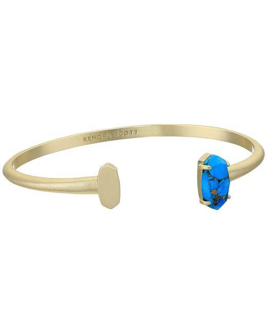 Kendra Scott - Metallic Vada Bracelet (gold/bronze Veined Turquoise Magnesite) Bracelet - Lyst