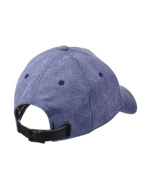 ... Rag   Bone - Blue Marilyn Baseball Cap (grey Suede) Baseball Caps - Lyst 2219e02a005