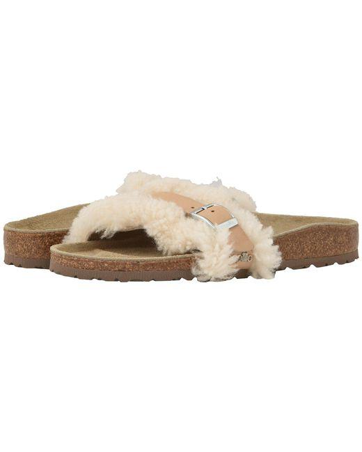 Birkenstock - Carmen (off-white Shearling/leather) Women's Shoes - Lyst