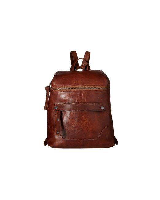 Frye - Brown Melissa Zip Backpack (cognac Antique Pull Up) Backpack Bags - Lyst