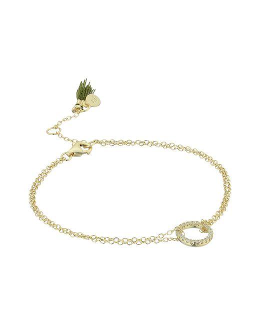 Shashi - Metallic Circle Pave Bracelet - Lyst