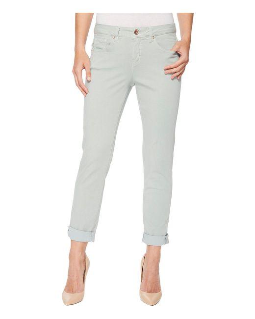 Jag Jeans - Blue Carter Cuffed Girlfriend Jeans In Freedom Knit Denim - Lyst