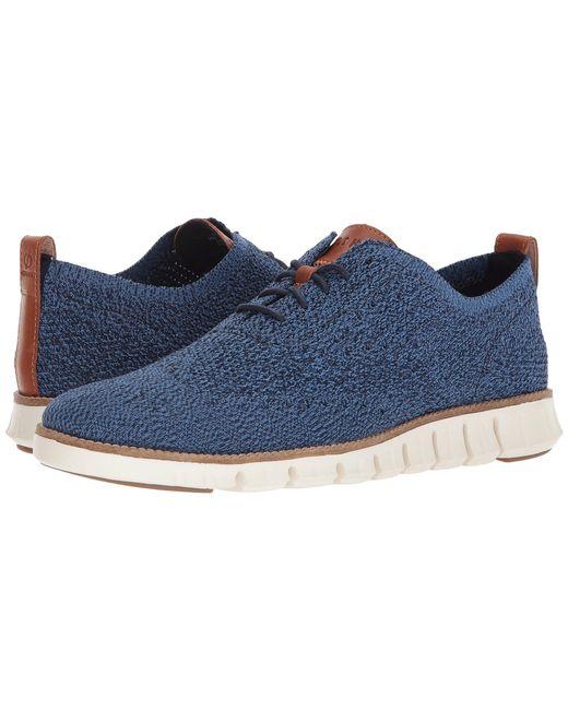 Cole Haan - Zerogrand Stitchlite Oxford (vapor Grey/bluefish) Men's Plain Toe Shoes for Men - Lyst