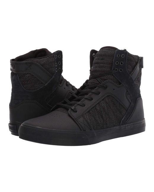a40d63b3ae54 Lyst - Supra Skytop (black black risk Red) Men s Skate Shoes in ...
