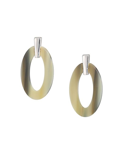Lauren by Ralph Lauren - Metallic Horn Link Drop Earrings (silver) Earring - Lyst