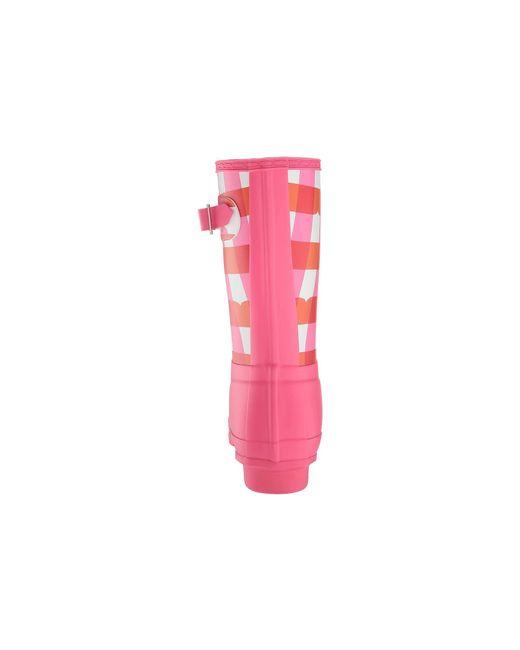 9e9e9b69613c ... Hunter - Original Short Gingham (arcade Pink) Women s Rain Boots ...