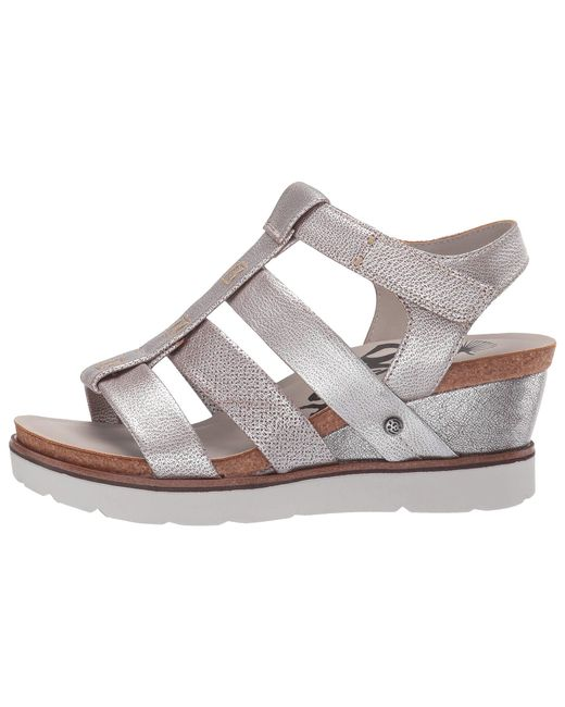 d07662f059b Lyst - Otbt New Moon (silver) Women s Wedge Shoes in Metallic