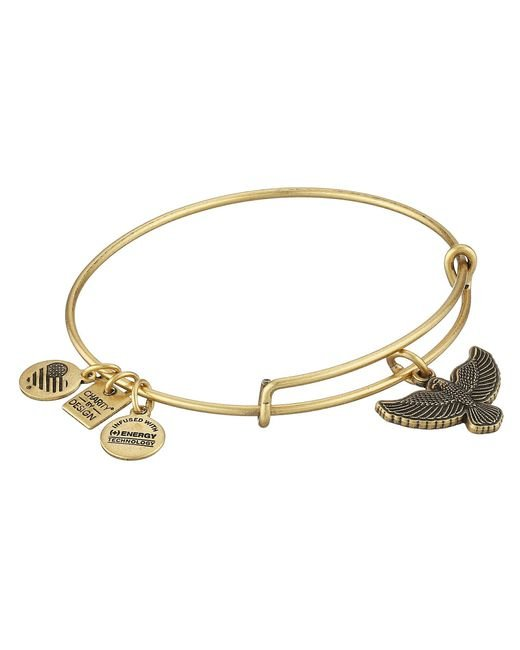 ALEX AND ANI | Metallic Charity By Design Spirit Of The Eagle Charm Bangle | Lyst