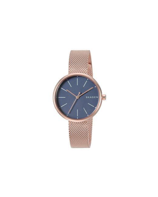Skagen - Blue Signatur - Skw2593 (rose Gold) Watches - Lyst