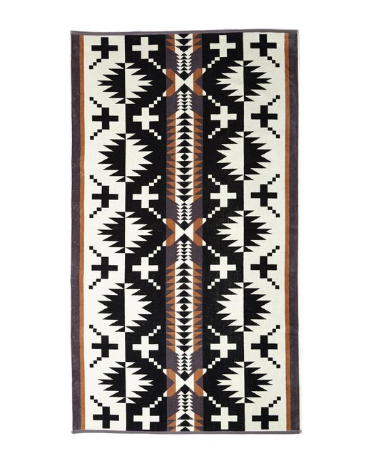 Pendleton - Black Oversized Jacquard Towel - Lyst