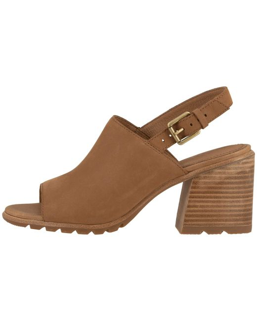 5adbc8feee7 ... Sorel - Brown Nadiatm Slingback (black Full Grain Leather) Women's  Shoes ...