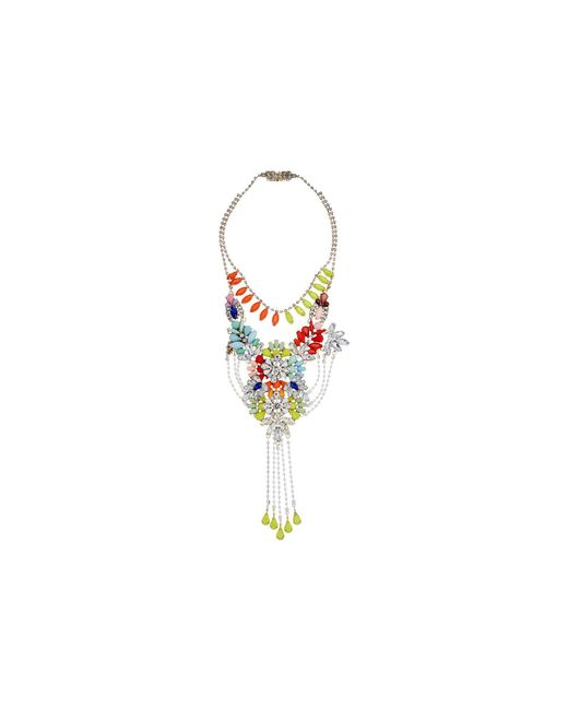 Steve Madden - Metallic Multi-layer Floral Statement Necklace (gold/silver/multi) Necklace - Lyst