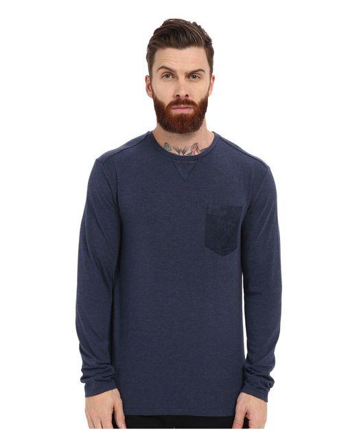 7 Diamonds | Blue Cain Long Sleeve Shirt for Men | Lyst