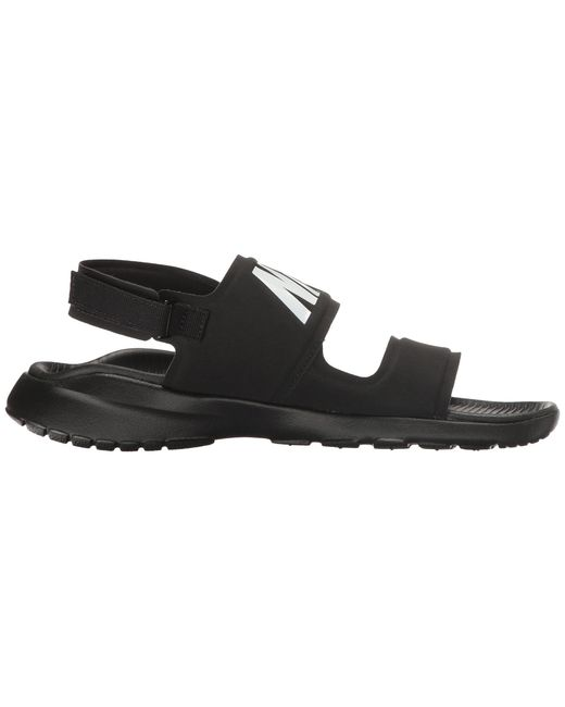 8a1b484c0032 Lyst - Nike Tanjun Sandal (black black white) Women s Shoes in Black