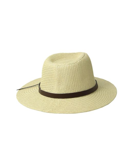 d798bd05286 ... San Diego Hat Company - White Cut Sew Paper Fedora W  Faux Leather Band  (