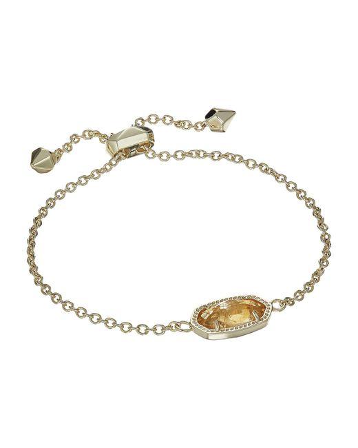 Kendra Scott - Metallic Elaina Birthstone Bracelet (june/gold/ivory Mother-of-pearl) Bracelet - Lyst
