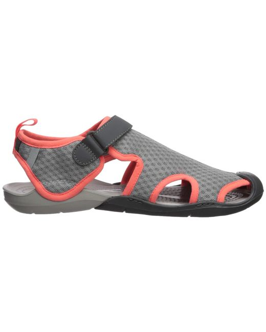 02635671377b ... Lyst Crocs™ - Gray Swiftwater Mesh Sandal (black) Women s Sandals ...