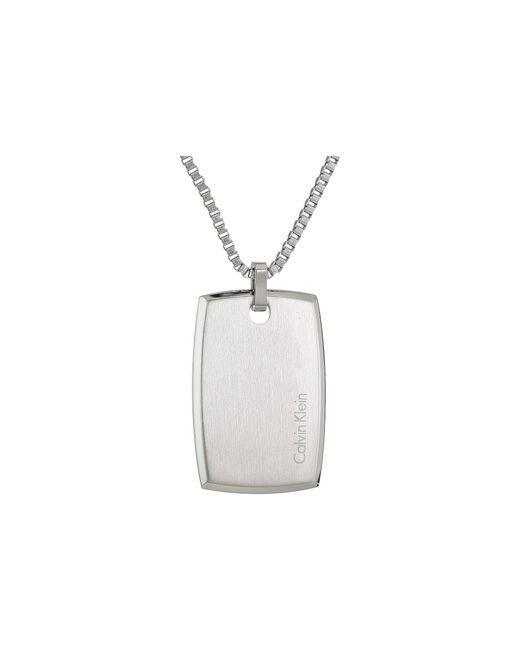 Calvin Klein - Metallic Straight Short Pendant Necklace (silver) Necklace for Men - Lyst