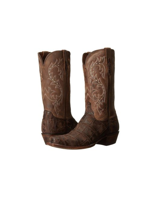 Lucchese - Brown Burke (chocolate Giant Alligator/cafe) Cowboy Boots for Men - Lyst