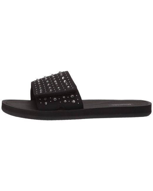 52d67bd5a4ff ... MICHAEL Michael Kors - Mk Slide (black silver Glitter Chain Mesh)  Women s Sandals ...