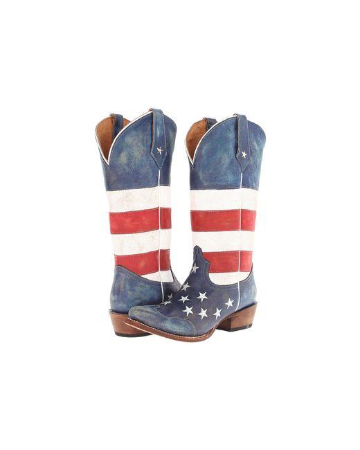Roper - Blue American Flag Snip Toe - Lyst