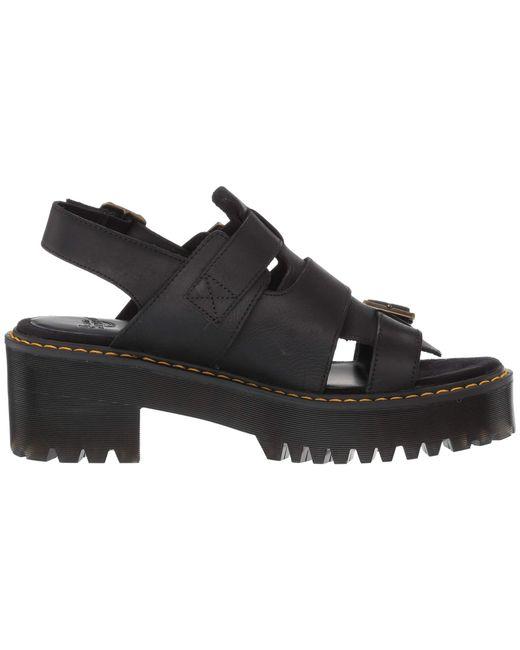 4de9aec341b5 ... Dr. Martens - Black Ariel Leaather Chunky Heeled Sandals - Lyst ...