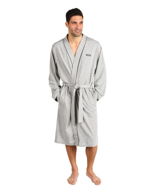 BOSS - Gray Innovation 1 Cotton Kimono Robe (grey) Men's Robe for Men - Lyst