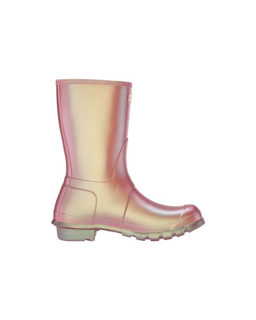 5ef00aa834f ... Lyst Hunter - Multicolor Original Short Nebula (carousel Orange) Women s  Rain Boots ...