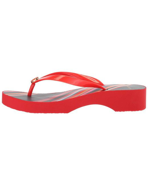 5872e760d3e5 Lyst - Tory Burch Wedge Flip-flop (black black 2) Women s Sandals in Red