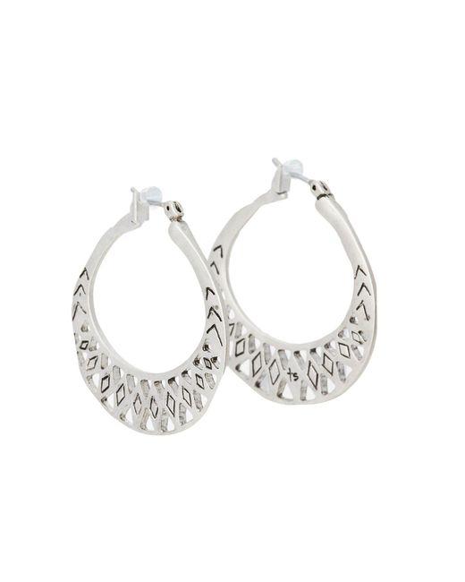 The Sak - Metallic Metal Works Openwork Metal Hoop Earring (silver) Earring - Lyst