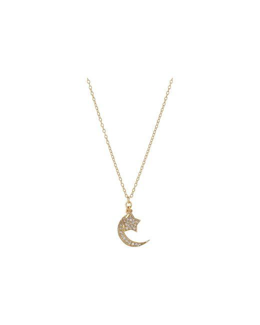 Shashi   Metallic Moon Star Pendant Necklace   Lyst