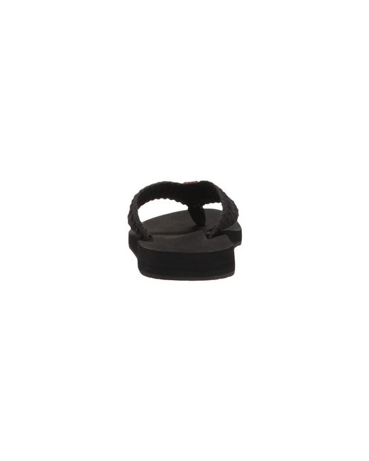 e5609c3a6363 Lyst - Reef Cushion Threads (vintage White) Women s Sandals in Black