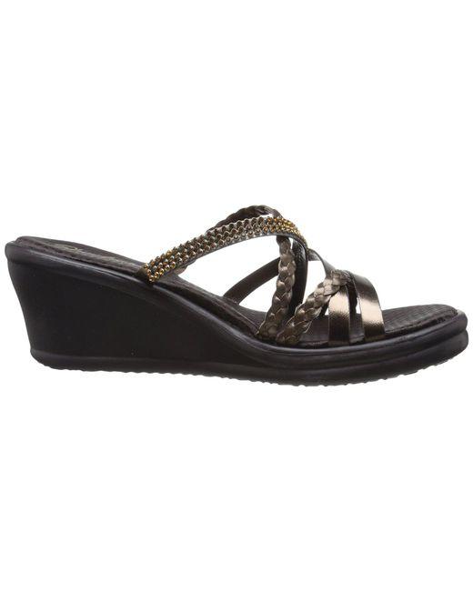 3d9ec3af3d4f ... Skechers - Cali - Rumblers - Wild Child (black black) Women s Sandals  ...