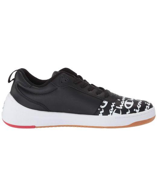 4e7d9d5085738 ... Champion - Black Super C Court Low Print (red) Men s Classic Shoes for  Men ...