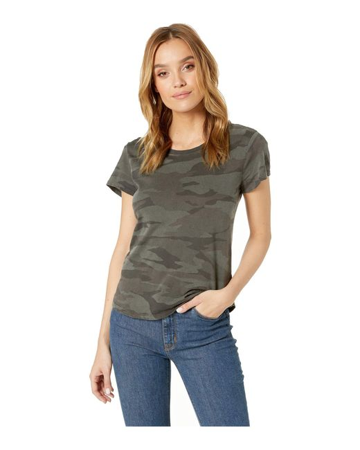 ab8982433 Splendid - Green Abbie Camo Crew Tee (vintage Olive Branch) Women's T Shirt  ...