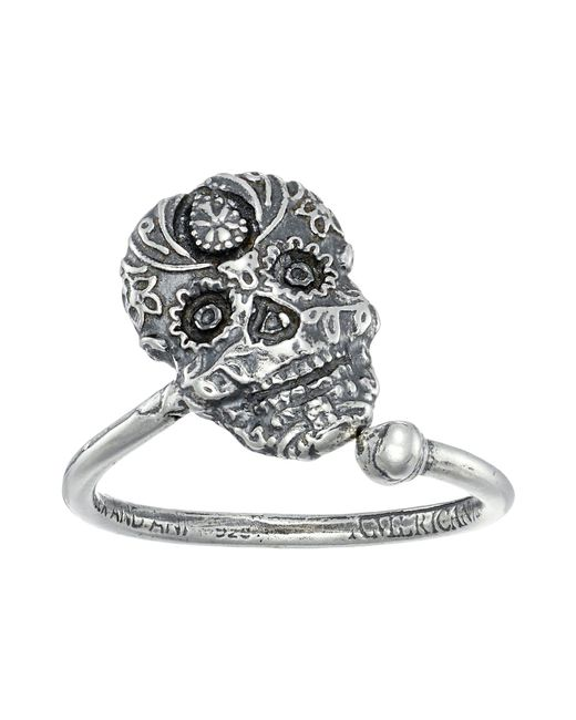 ALEX AND ANI - Metallic Calavera Ring Wrap (sterling Silver) Ring - Lyst