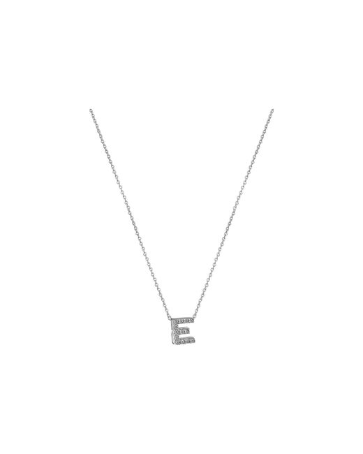 Roberto Coin | Metallic Diamond Initial Necklace | Lyst