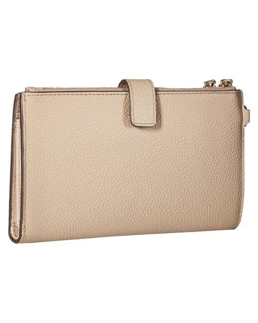 c5cdccfeaed0 ... MICHAEL Michael Kors - Natural Double Zip Wristlet (brown acorn)  Wristlet Handbags ...