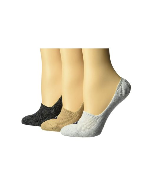 Sperry Top-Sider - Natural 3-pack Performance Cushion Liners (vapor Marl Assorted) Women's No Show Socks Shoes - Lyst