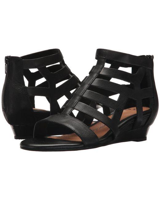 Söfft - Ravello (black Cow Oily Vege) Women's Wedge Shoes - Lyst