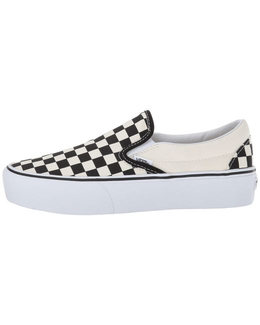 2d6a4cbbe48 ... Lyst Vans - White Women s Checkerboard Slip-on Platform Sneakers ...