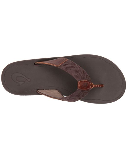 4d8e7f204389 Lyst - Olukai Nohona Ulana (black black) Men s Sandals in Brown for Men