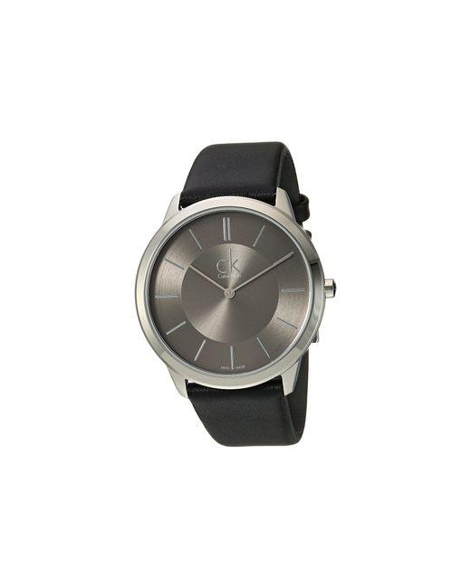 CALVIN KLEIN 205W39NYC - Gray Minimal Watch - K3m211c4 for Men - Lyst