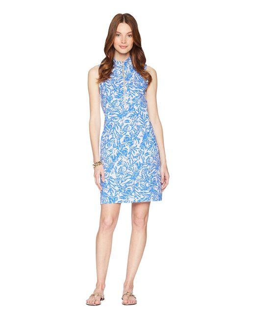 Lilly Pulitzer - Blue Skipper Sleeveless Dress (resort White On A Roll) Women's Dress - Lyst