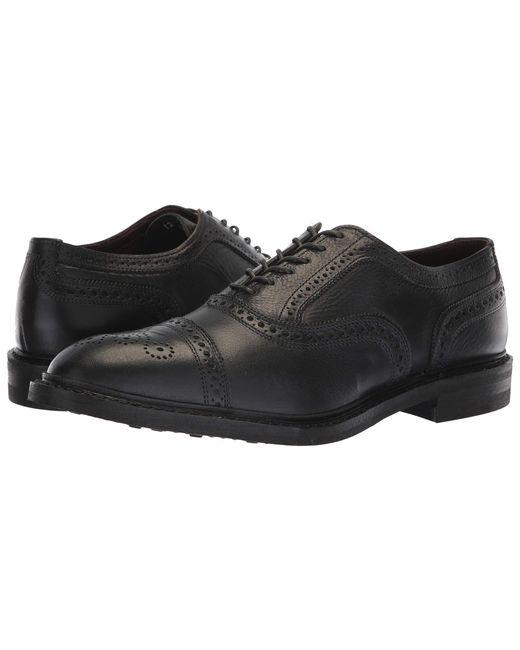 bec15b5fb8b7 Allen Edmonds - Black Men's Strandmok Brogue Leather Cap - Toe Oxfords for  Men ...