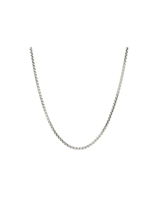 John Hardy - Metallic 2.6mm Box Chain Necklace Size 26 (silver) Necklace for Men - Lyst