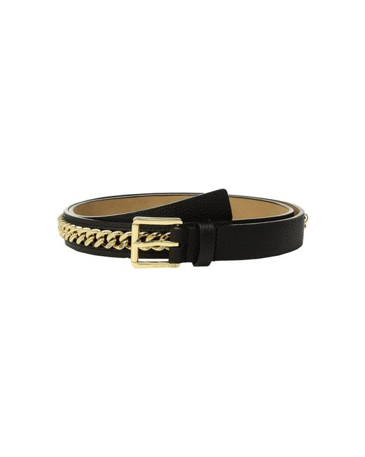MICHAEL Michael Kors - Mini Pebble Chain Belt (black) Women's Belts - Lyst