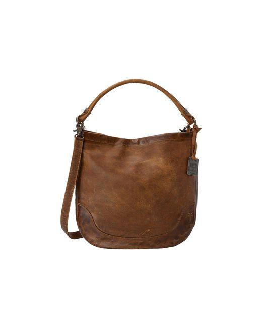 Frye - Brown Melissa Hobo (beige Antique Pull Up) Hobo Handbags - Lyst