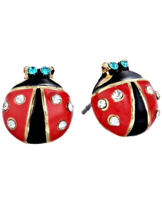 Betsey Johnson   Red Ladybug Studs   Lyst